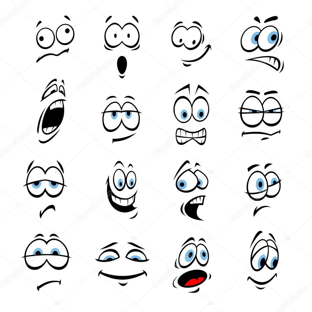 Cartoon Eyes Face Expressions And Emotions