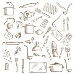 ᐈ Utensilios de cocina vector de stock imágenes utensilios de cocina para colorear descargar en Depositphotos®