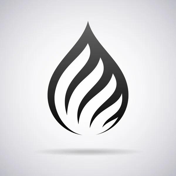 oil drop logo stock