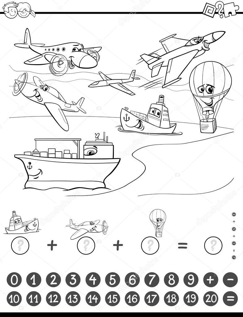 maths task for coloring — Stock Vector © izakowski #117772166