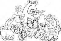 caratteri di cane da colorare  Vettoriali Stock ...