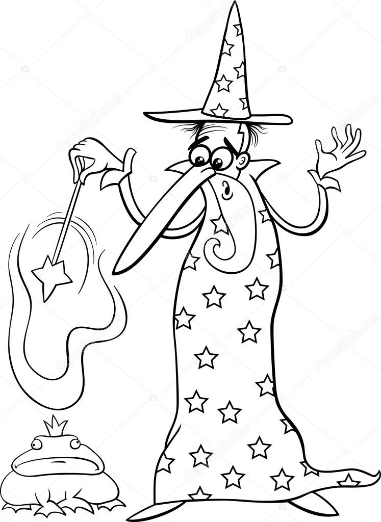 Página del asistente fantasía de dibujos animados para