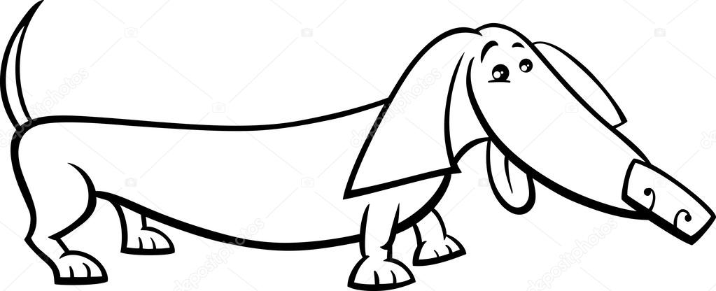 Dachshund Coloring Pages Adult Sketch Coloring Page