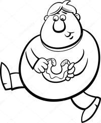 Niños Obesos Para Colorear Dibujos Para Colorear Gratis