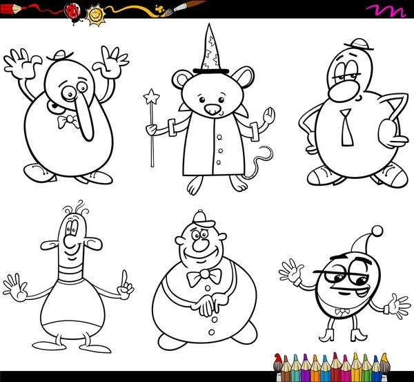 elf fairy fantasy cartoon kleurplaten pagina — Stockvector