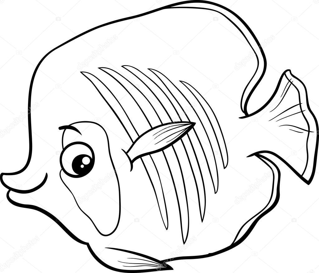 exotic fish coloring book — Stock Vector © izakowski #91946620