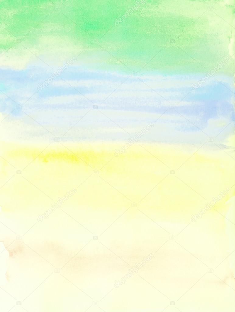 Summer Watercolor Background : summer, watercolor, background, Artistic, Summer, Watercolor, Background, Stock, Photo,, Image, Julietart, #89065570