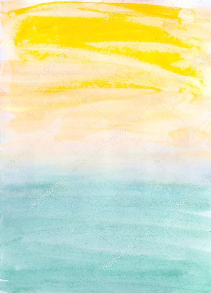 Summer Watercolor Background : summer, watercolor, background, Artistic, Summer, Watercolor, Background, Stock, Photo,, Image, Julietart, #89065846