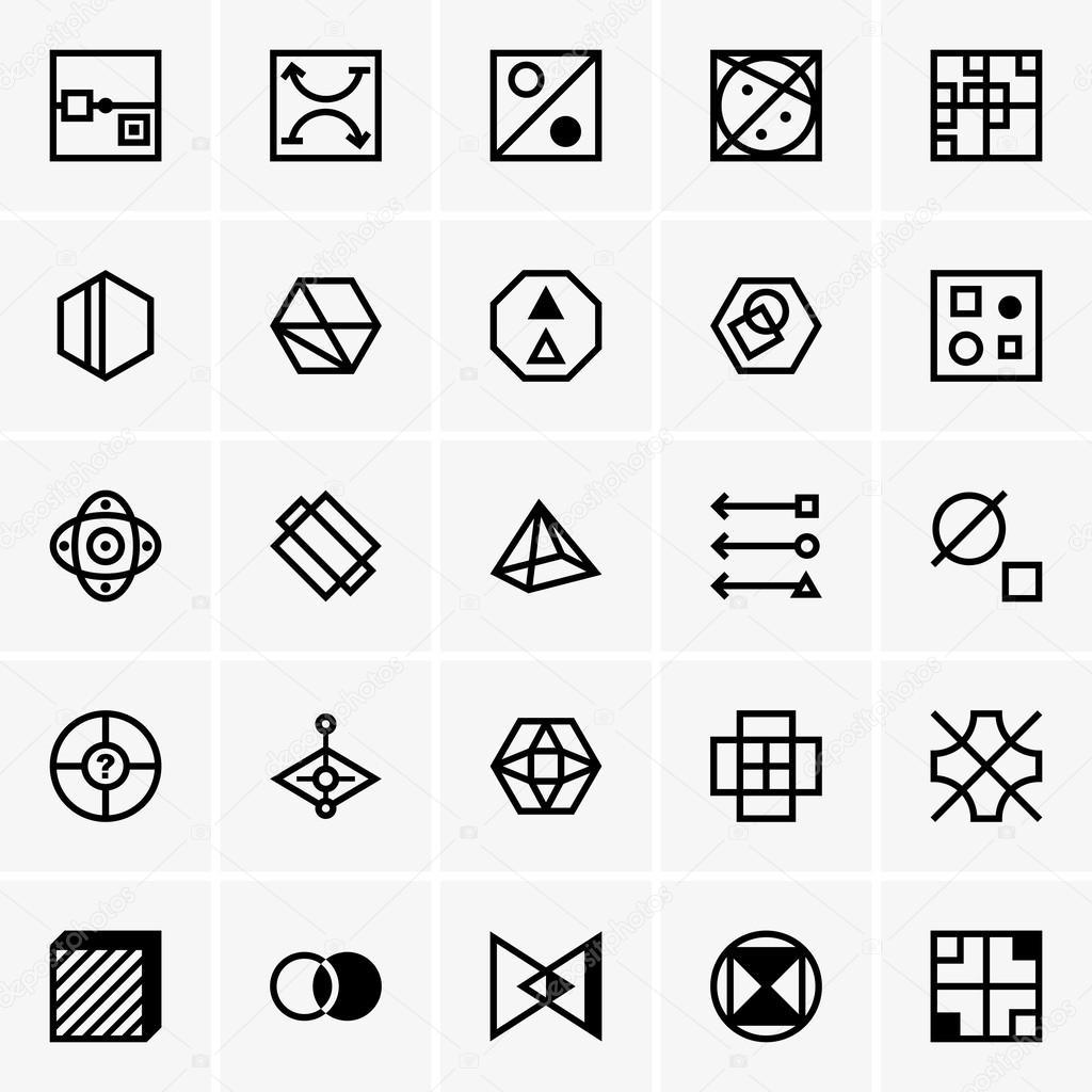 IQ test icons — Stock Vector © Den.Barbulat #63887473