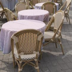 Parisian Cafe Chairs Drop Arm Chair And Table Paris France Stock Photo C Kevers 58864821 By