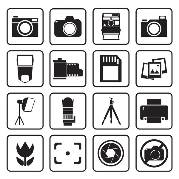 Electric oven function & control symbols — Stock Vector
