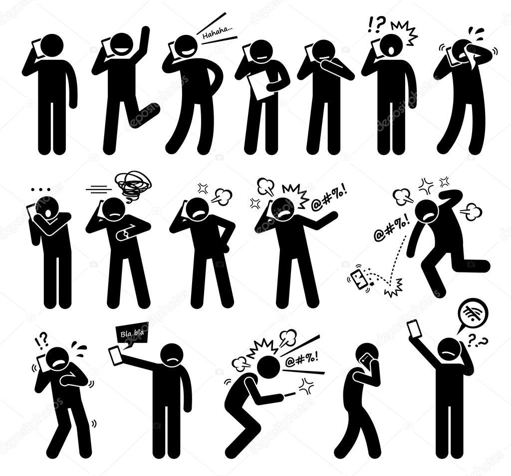 Menschen Ausdrücken Gefühle Emotionen beim sprechen auf