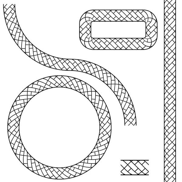 Wavy Straight Rope Set — Stock Vector © cteconsulting #3983478