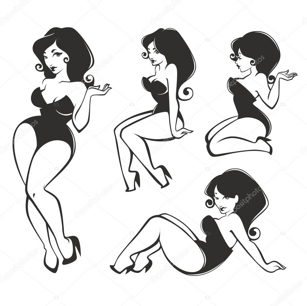 Vector Collection Of Pin Up Girls