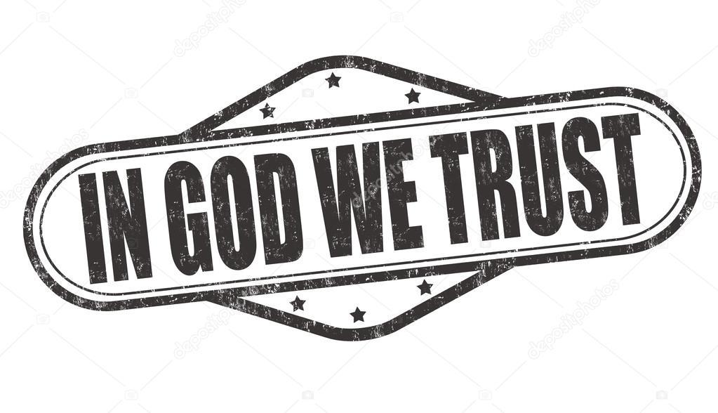 In God we trust stamp — Stock Vector © roxanabalint #91780694