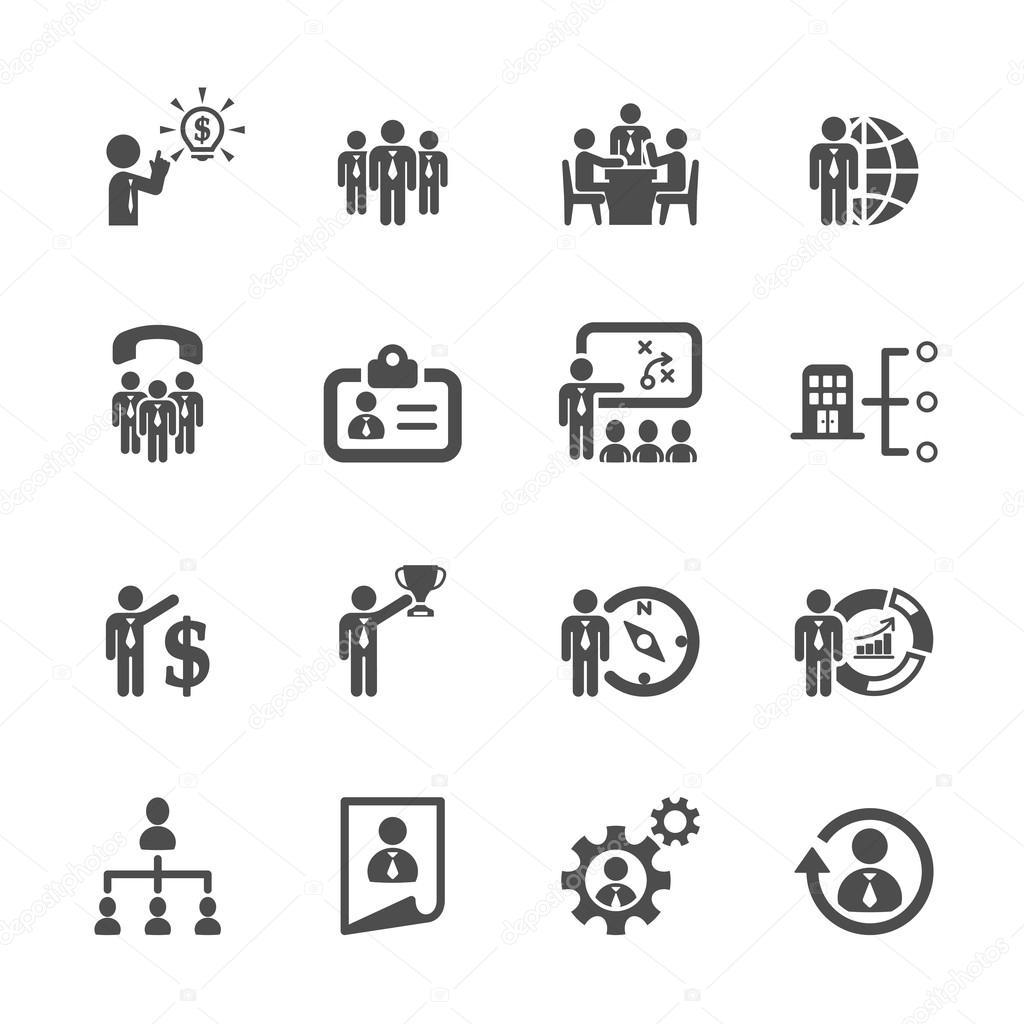 negocio y el icono de administración de recursos humanos 2