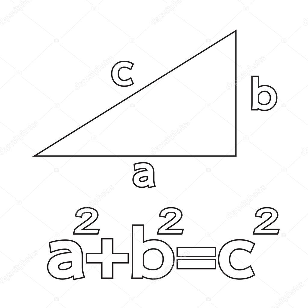 Icono arte ilustración del teorema de Pitágoras — Archivo
