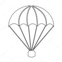 icona di paracadute disegno dell'illustrazione del simbolo ...