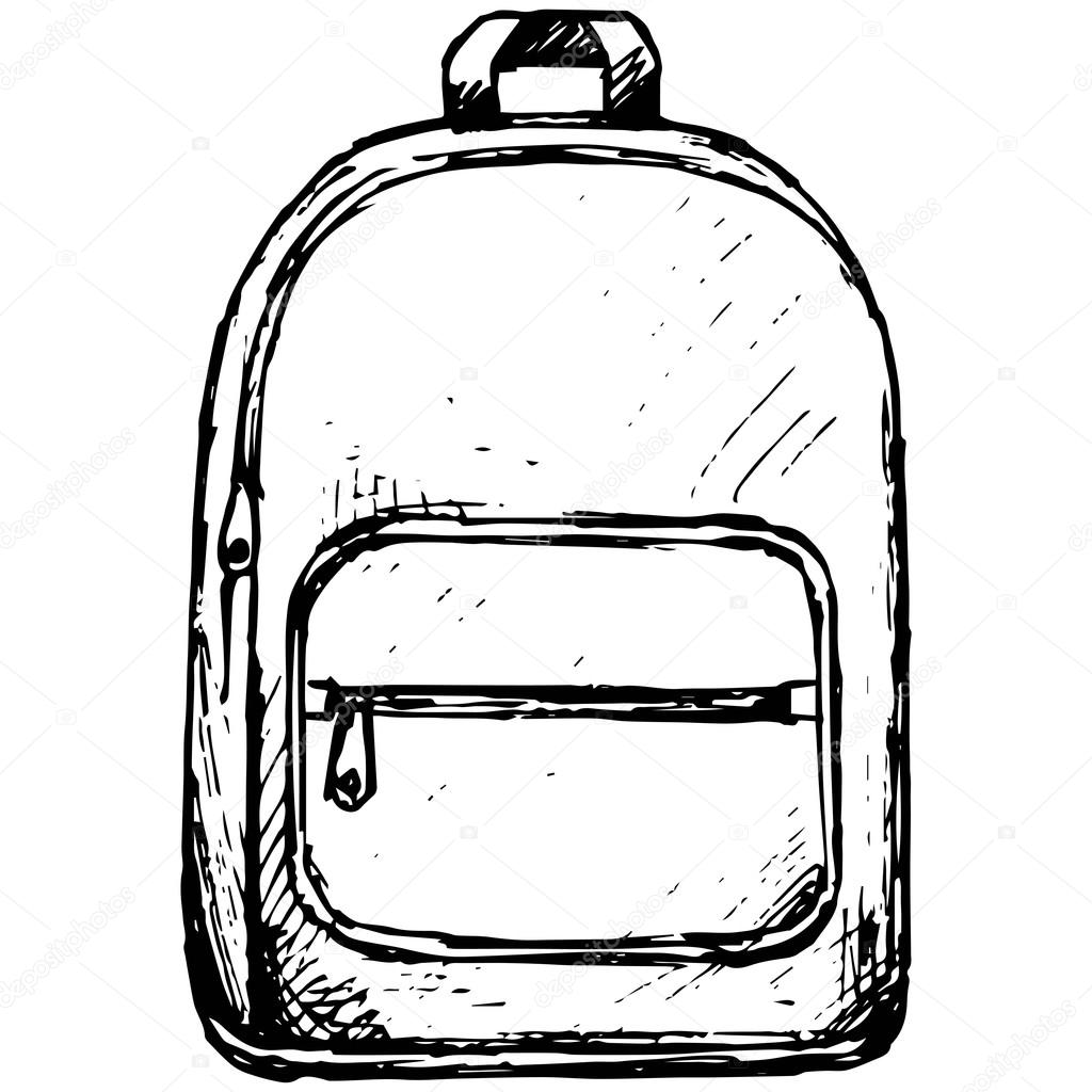 School backpack. Vector — Stock Vector © Kreativ #124654390