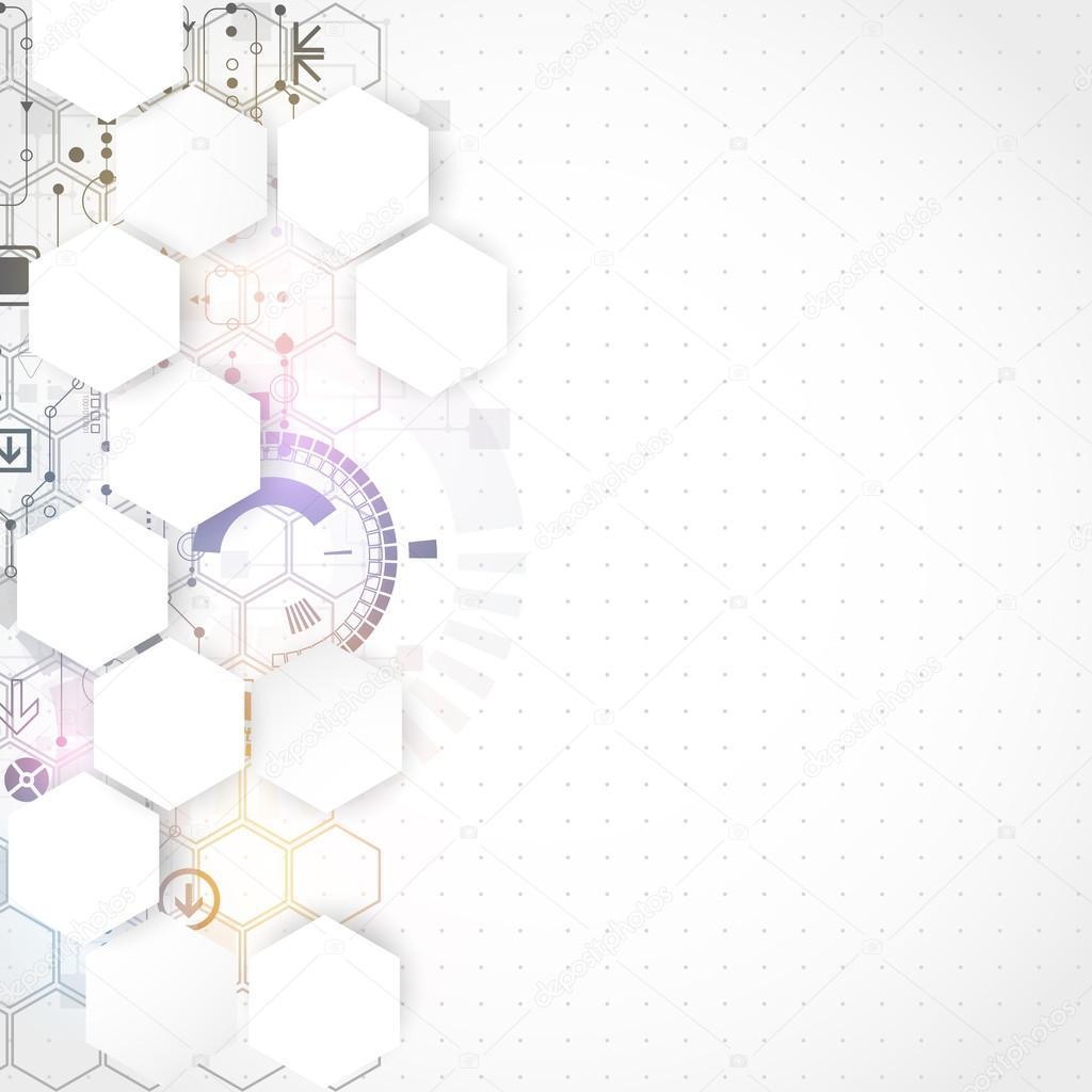 Fondo De Negocios De Tecnologia Informatica Futurista Gris