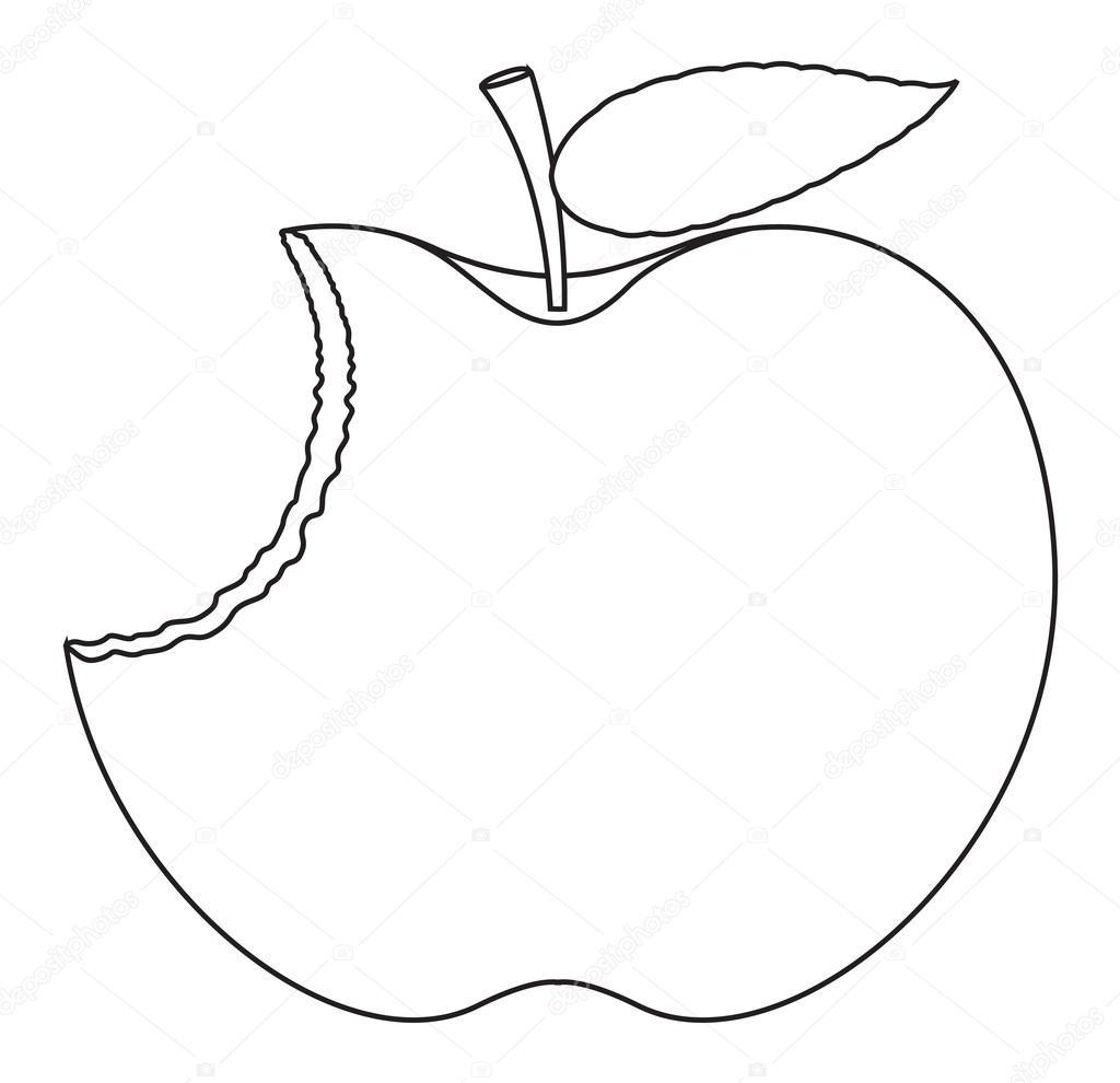 Eaten Apple Drawing