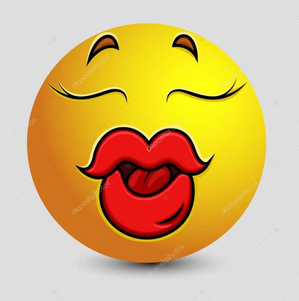 How To Draw Kiss Lips Emoji Imgurl