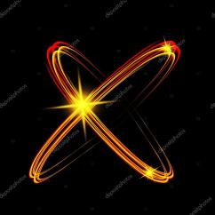 Neon Atom Diagram Coleman Mobile Home Electric Furnace Wiring Brillantes Luces De Neón Modelo Del átomo Círculos