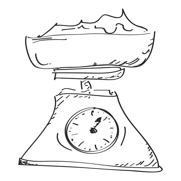 Cartoon weighing scales — Stock Vector © lineartestpilot