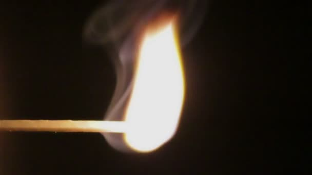 slow burning match flame