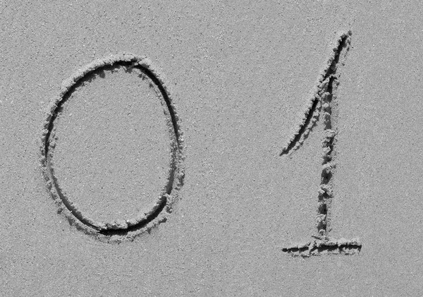 Sand beach alphabet: letter E — Stock Photo © atm2003