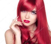 beautiful attractive model portrait