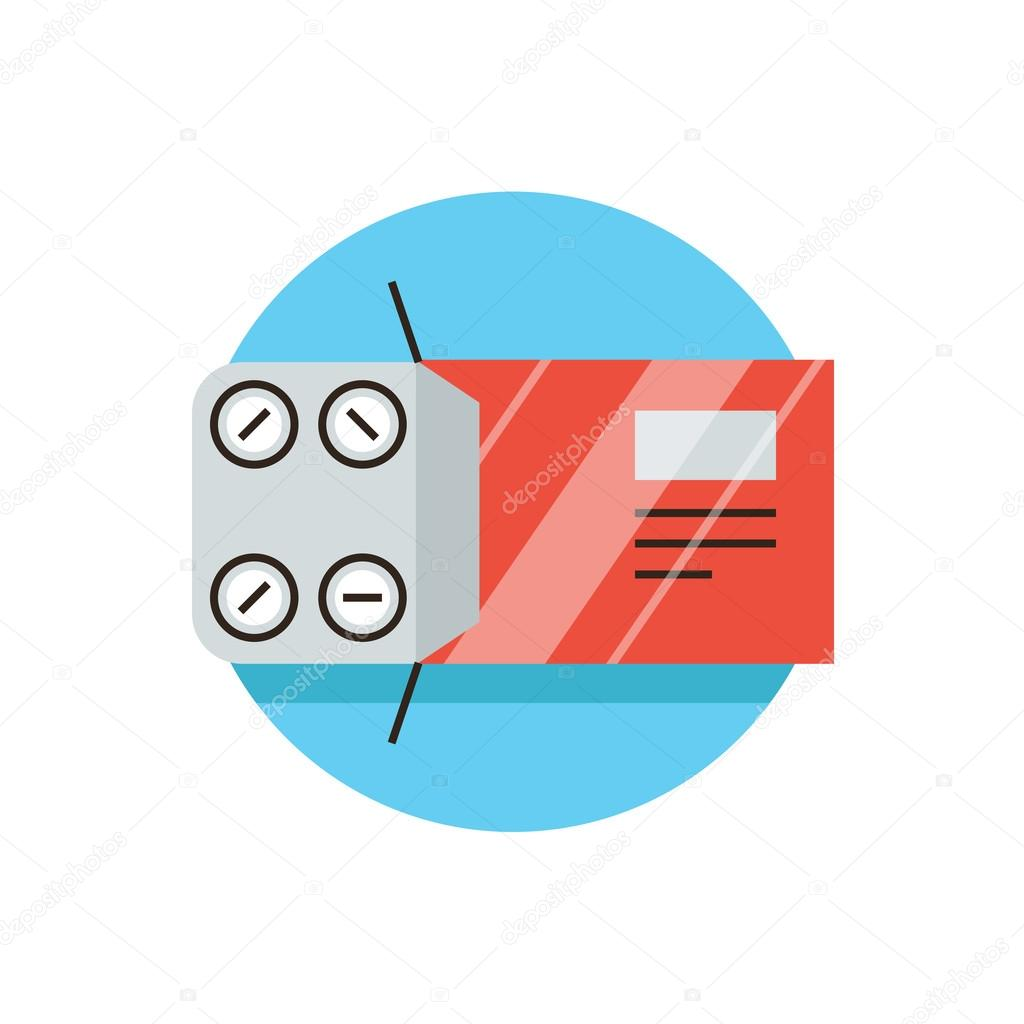 hight resolution of blister pack icon concept stock vector