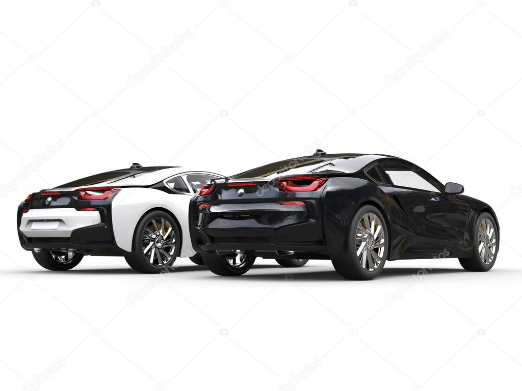 carros esportes modernos preto
