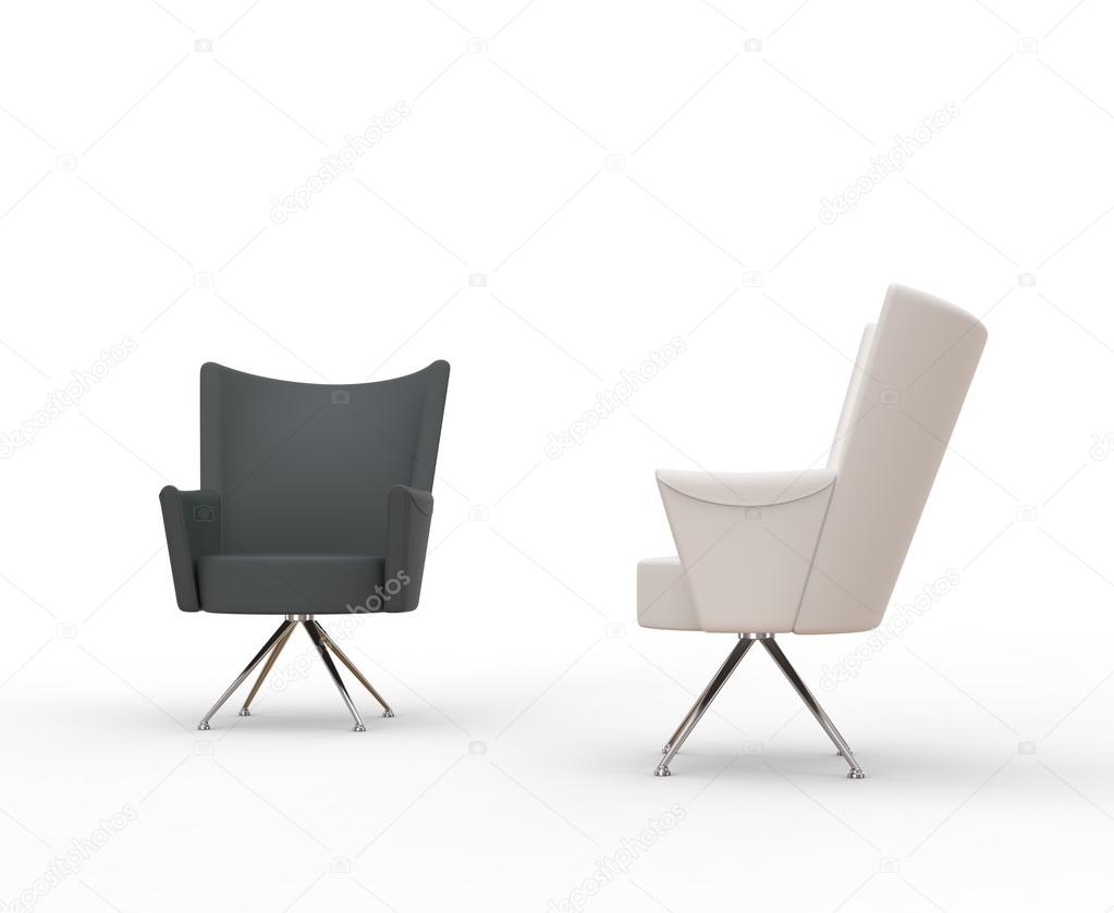 grey modern armchairs chair gym system and white stock photo c trimitrius 83385126