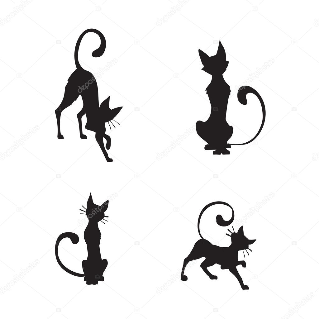 Red Cat Silhouette
