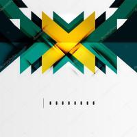 Futuristic geometric shapes, minimal design  Stock Vector