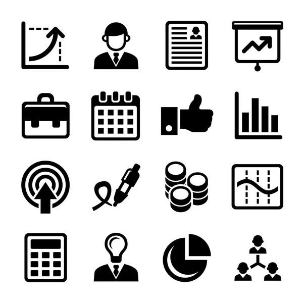 Conjunto de iconos marketing business analyst — Vector de