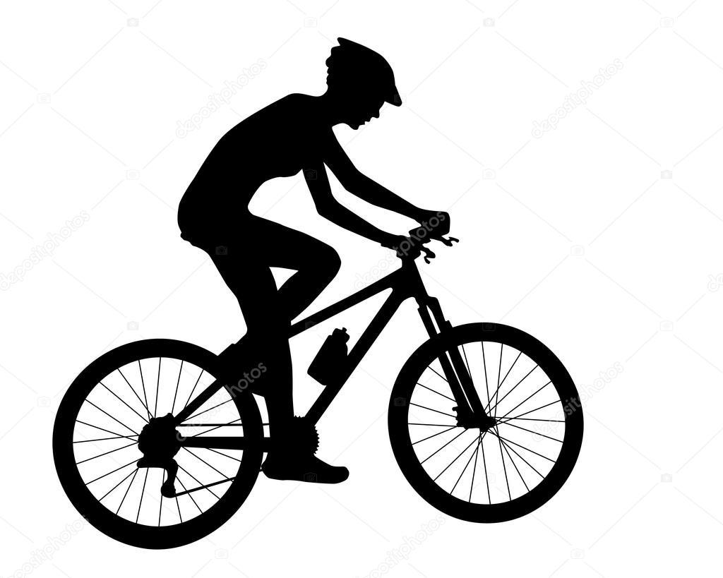 Cyclist Woman Silhouette