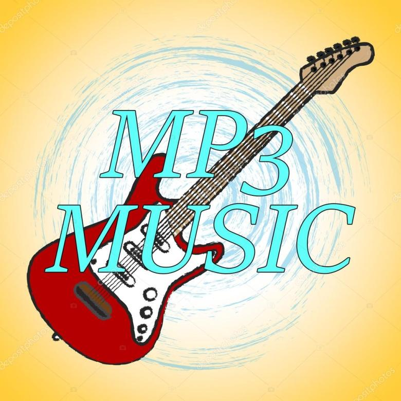 mp3 music with melody listening and sound track — stock photo