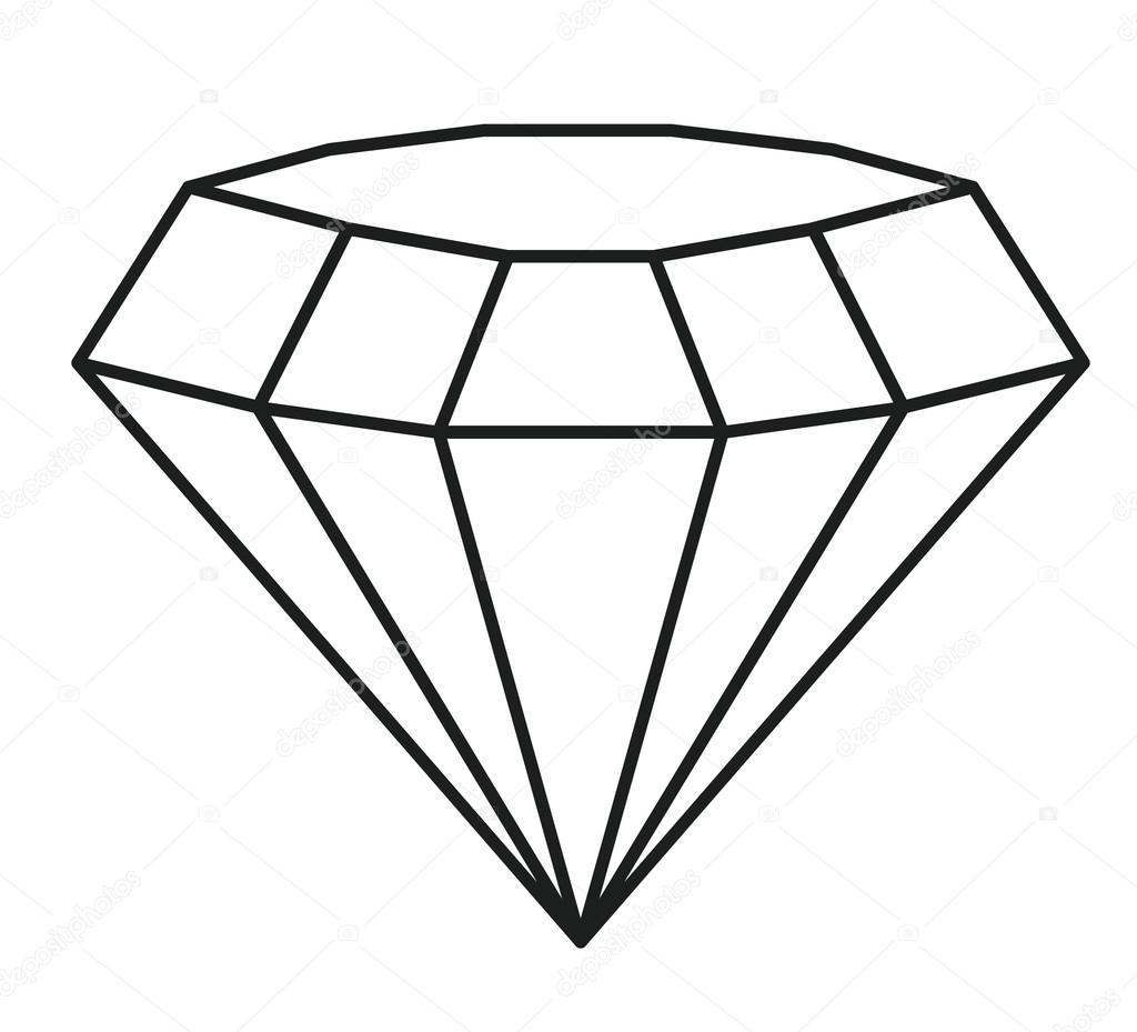 Isolated And Silhouette Diamond Design