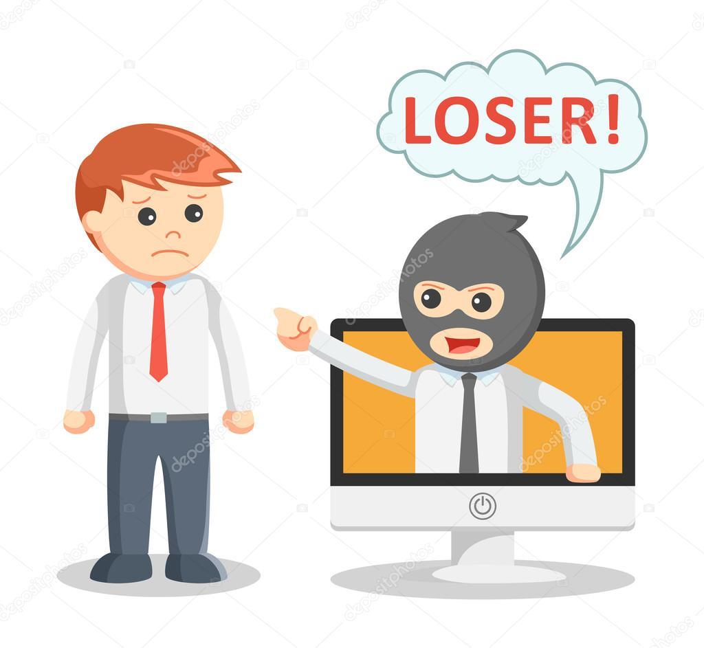 hight resolution of cyber bullying attack eps10 vector illustration vector by redrockerz99