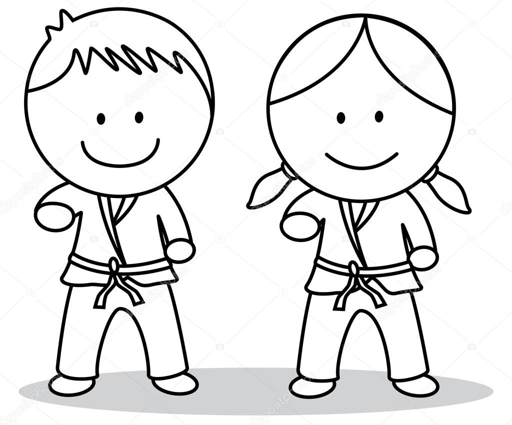 Karate kids — Stock Vector © redrockerz99 #82304830