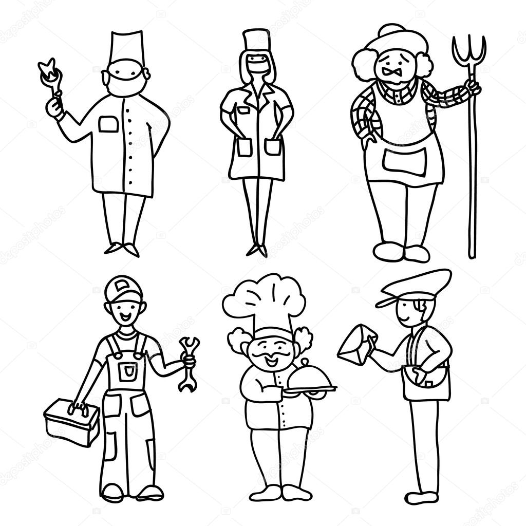Professions Kids Coloring Page