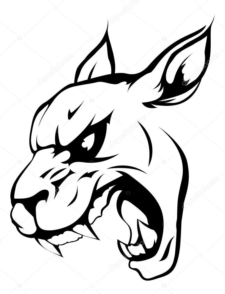 Panther puma or wildcat mascot — Stock Vector © Krisdog