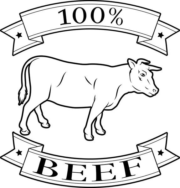 Beef cow illustration — Stock Vector © Krisdog #45099129