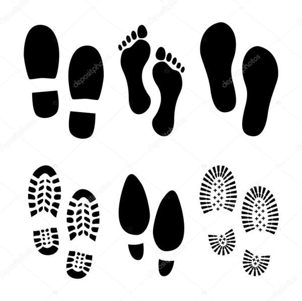Footprint Clip Art Vector