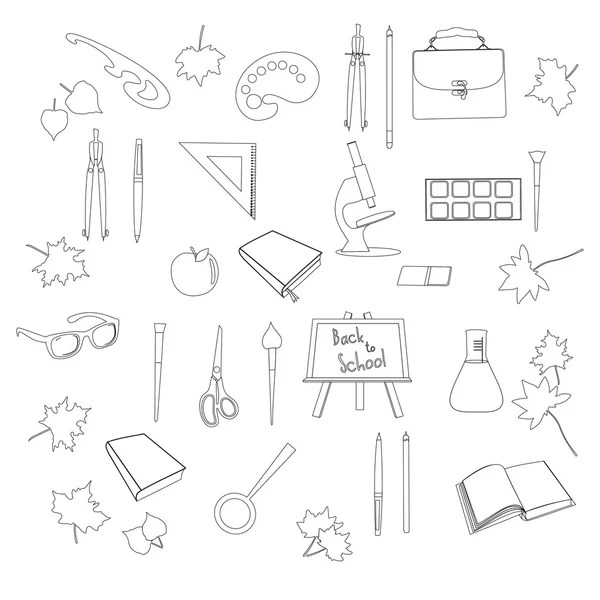 Outline School Desk icon. Isolated Vector illustration