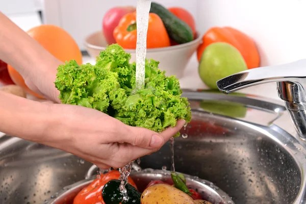 洗水果和蔬菜 — 圖庫照片©belchonock#53437277