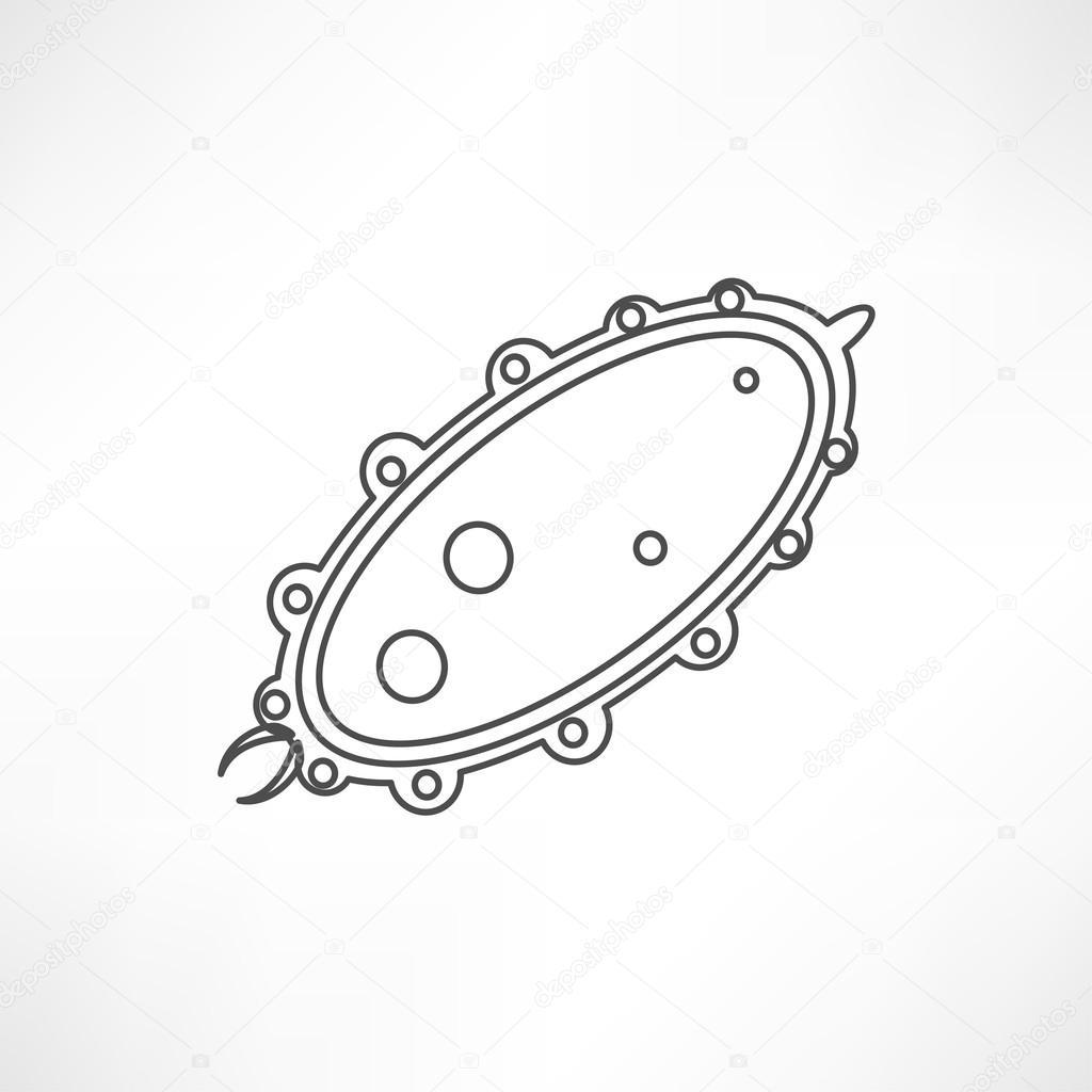 Ícone de vírus, bactérias — Vetores de Stock © slasny1988