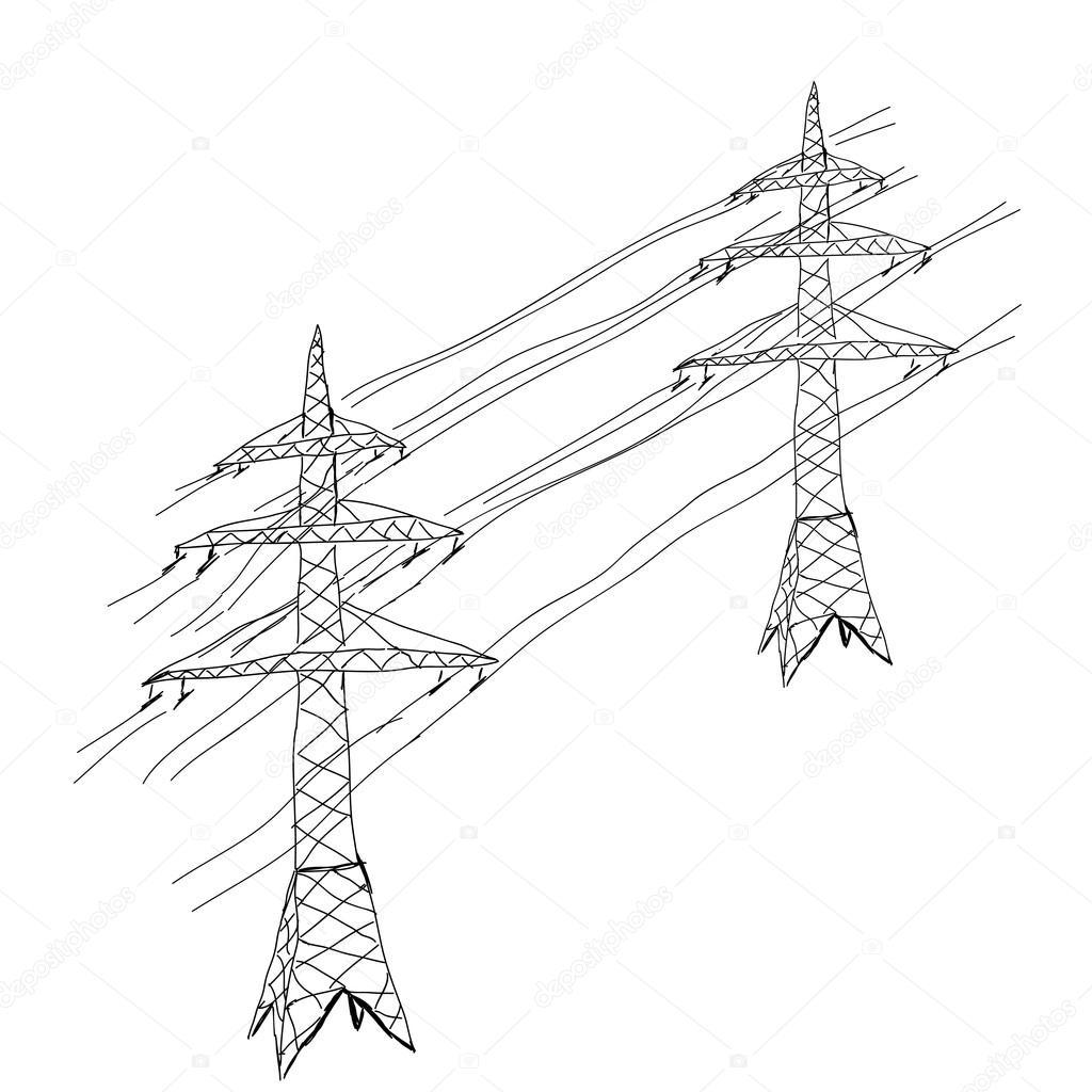 Icone De Torre De Transmissao De Energia
